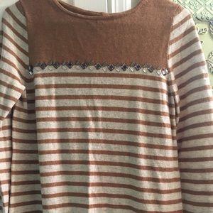J Crew Medium Jeweled Merino Wool Blend Sweater